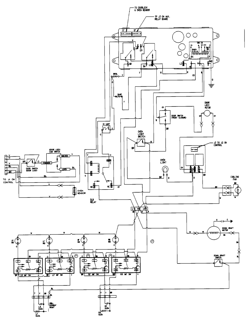 jenn air oven parts diagram – Jenn-air Electric Stove Wiring-diagram