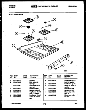Tappan 3039912303 Range  Gas Timer  Stove Clocks and Appliance Timers