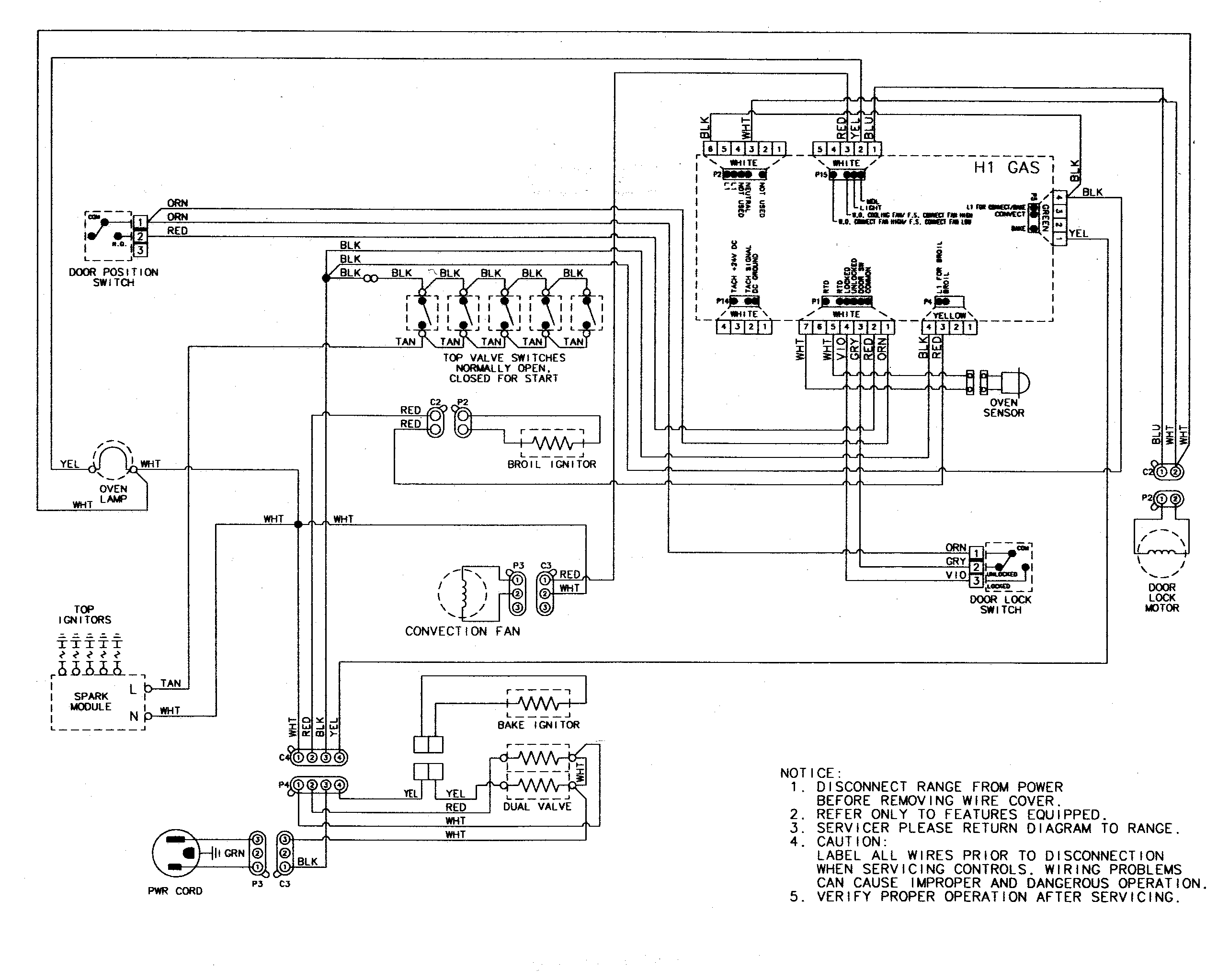 Defy Stove Wiring Diagram