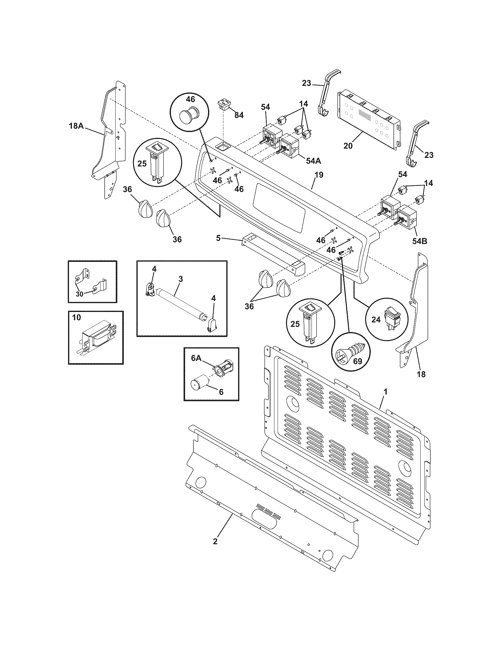 Frigidaire Cfef372eb4 Electric Range Timer