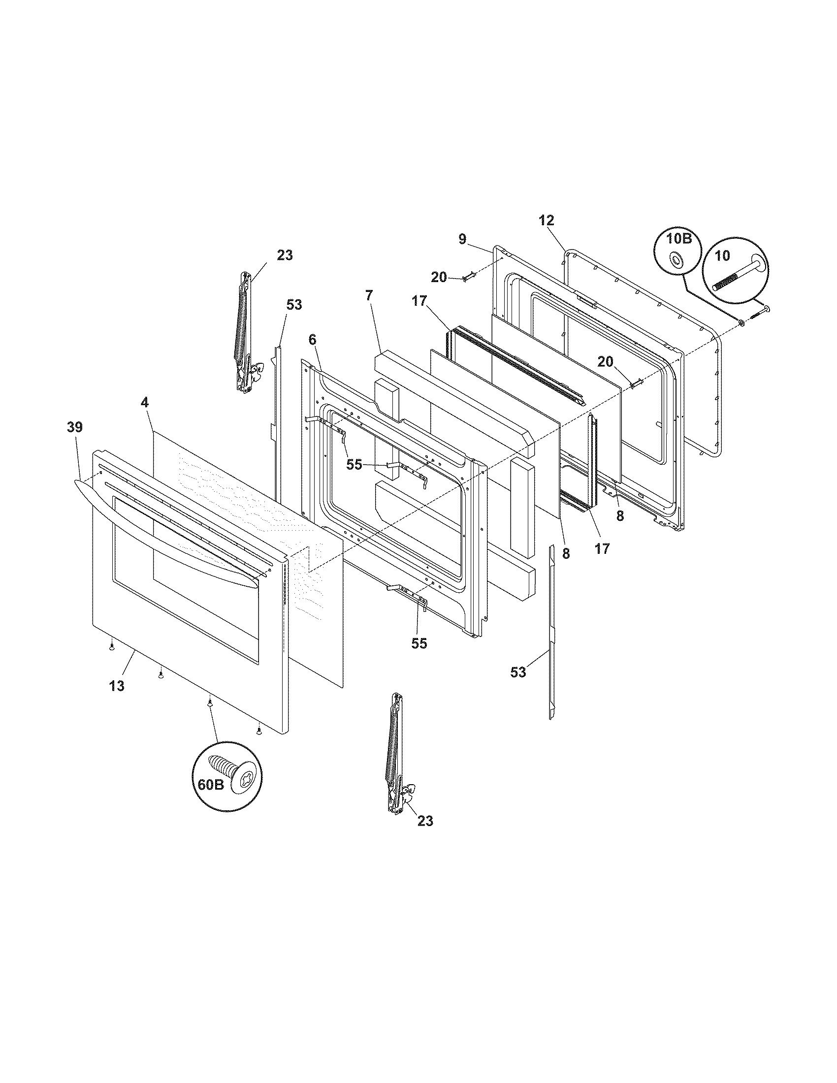 Frigidaire Cplef398ccb Electric Range Timer