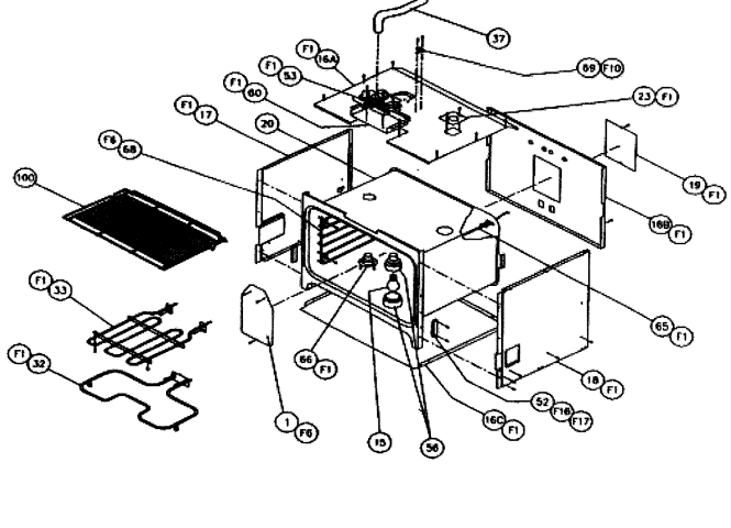 W305 Oven Door Y Parts Diagram