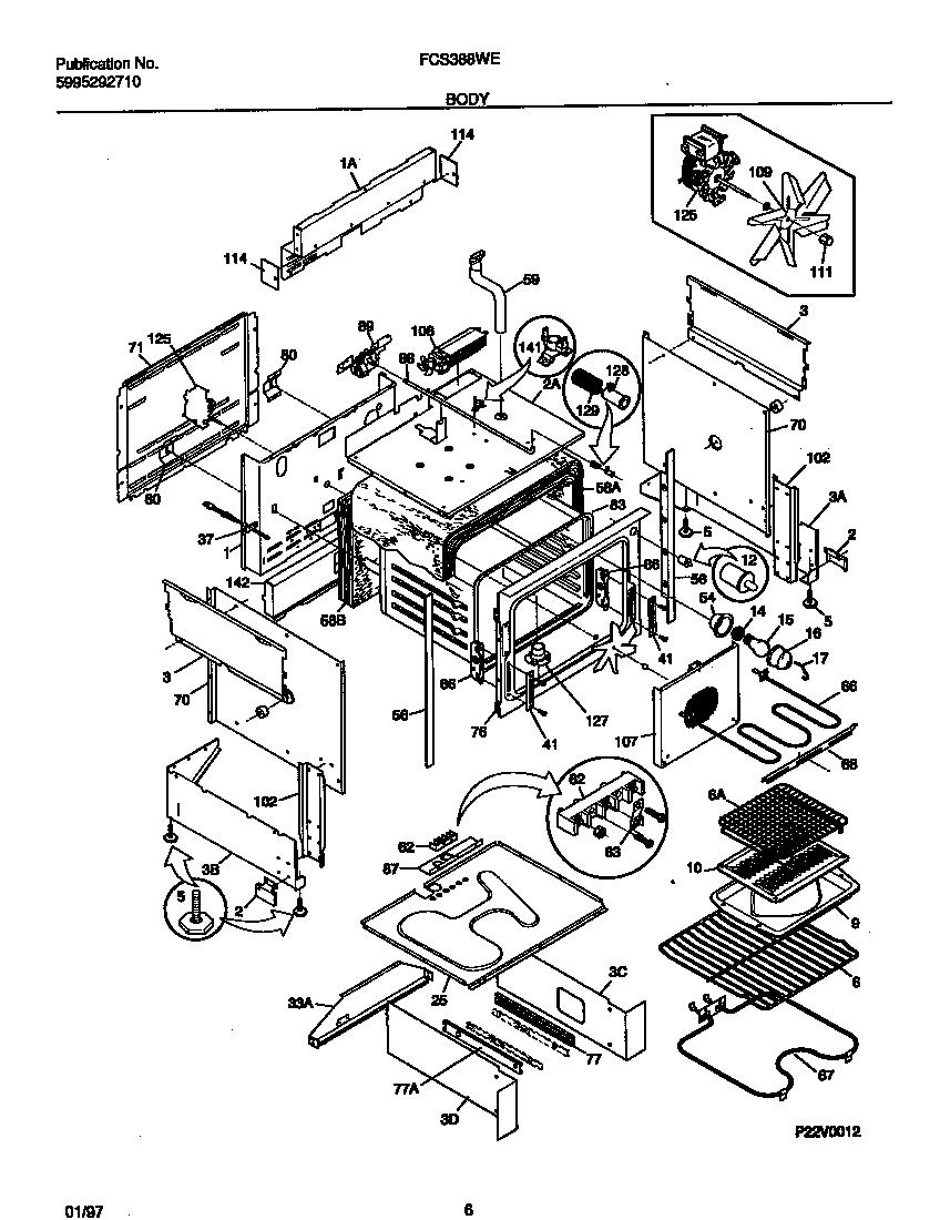 Fcs388weca dual fuel range body parts diagram