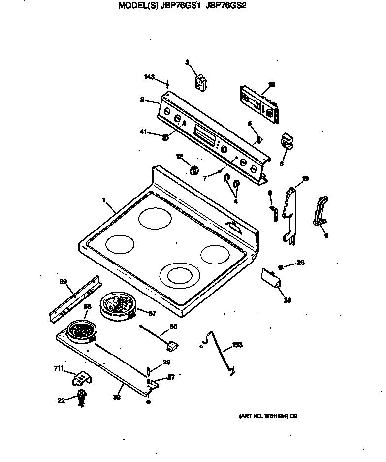 Frigidaire Electric Cooktop Parts