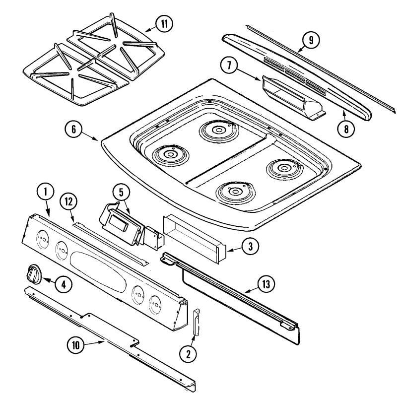 Xg 7502 Slidein Gas Range Timer Stove Clocks And Appliance Timers