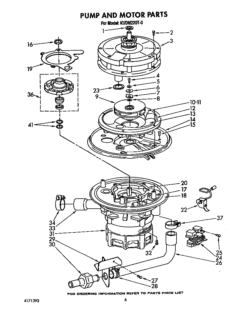 Kudm220t0 dishwasher pump and motor parts diagram