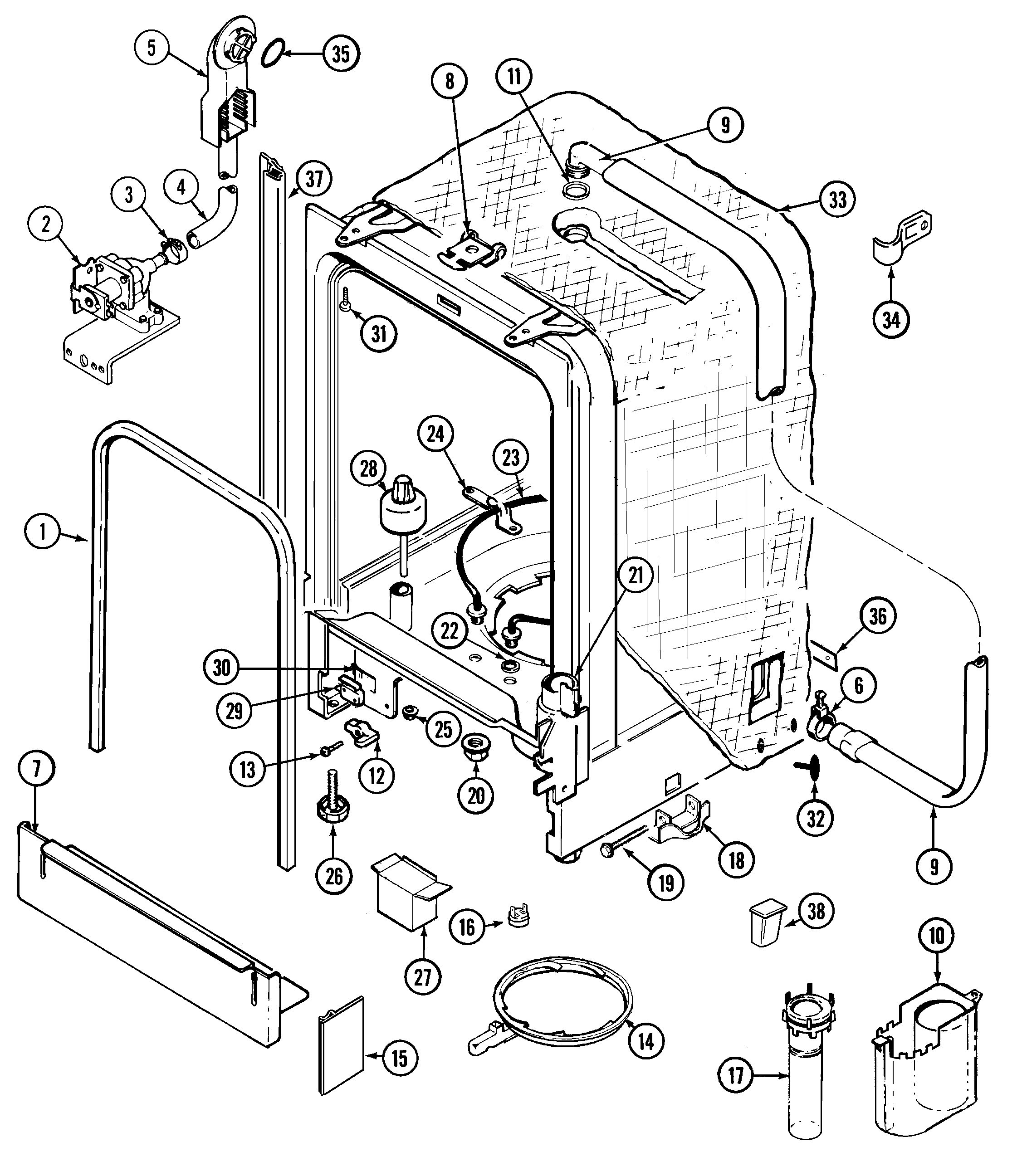 Whirlpool Parts Whirlpool Gold Dishwasher Parts Diagram