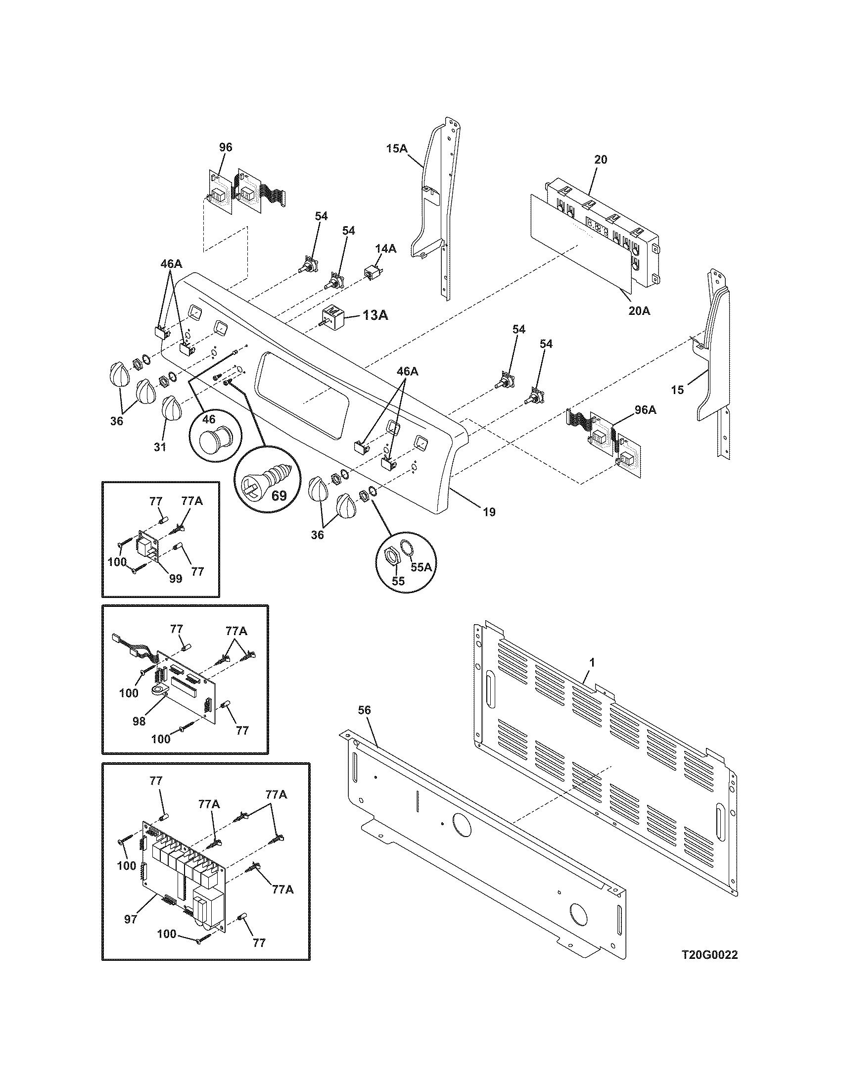 Frigidaire Plef398dce Electric Range Timer