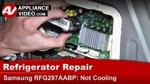 Samsung RFG297AABP Refrigerator – Not cooling – Inverter
