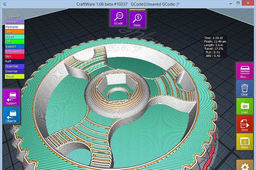 Best 3D Printing Software #2: CraftWare