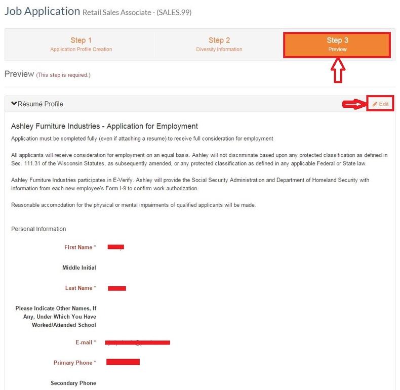 Ashley Furniture Application Online Online Information