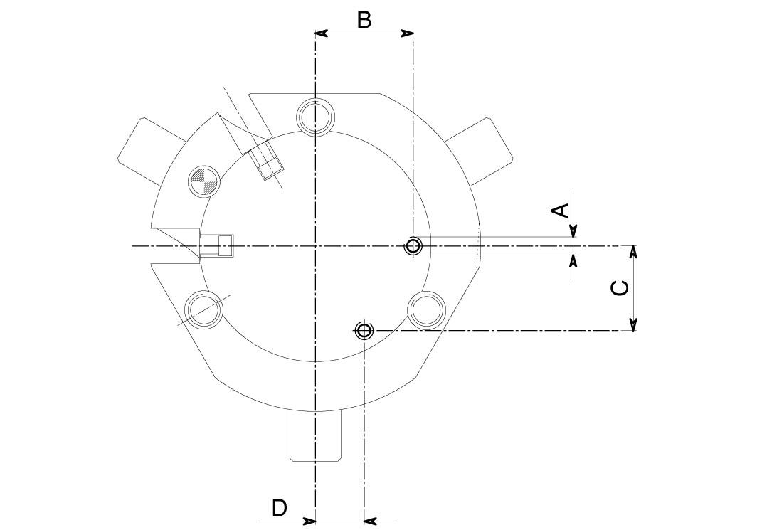 Alimentazione assiale pinze pneumatiche Axial power pneumatic grippers