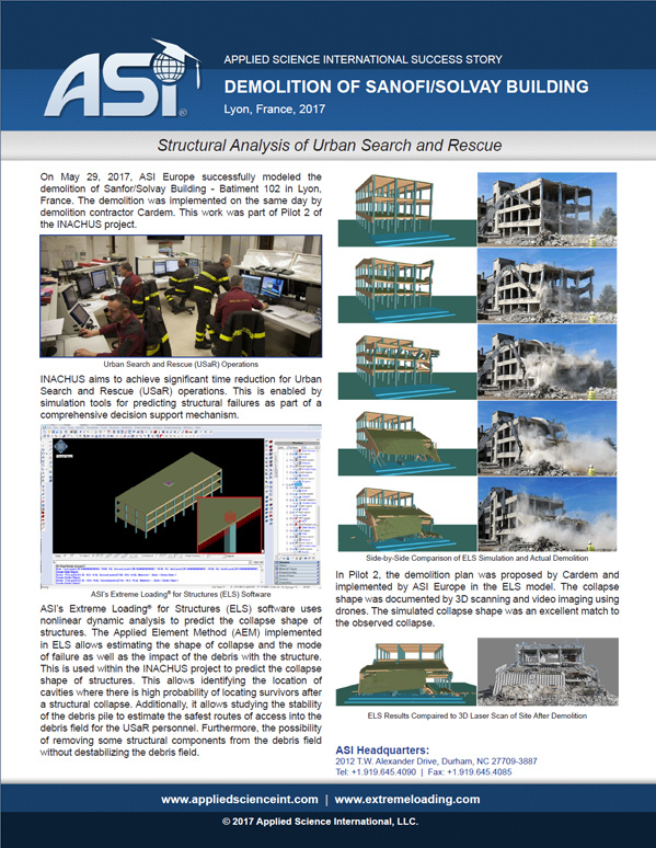 Structural Analysis of Urban Search and Rescue