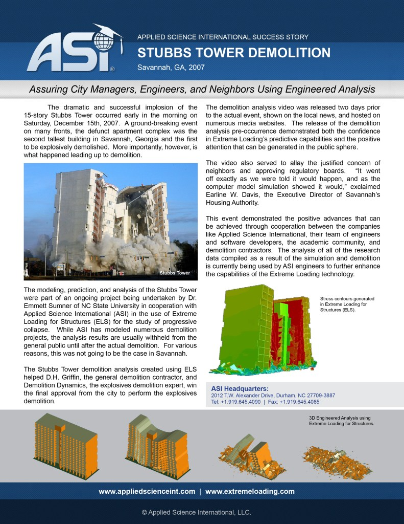 Case Study: Stubbs Tower Implosion Design