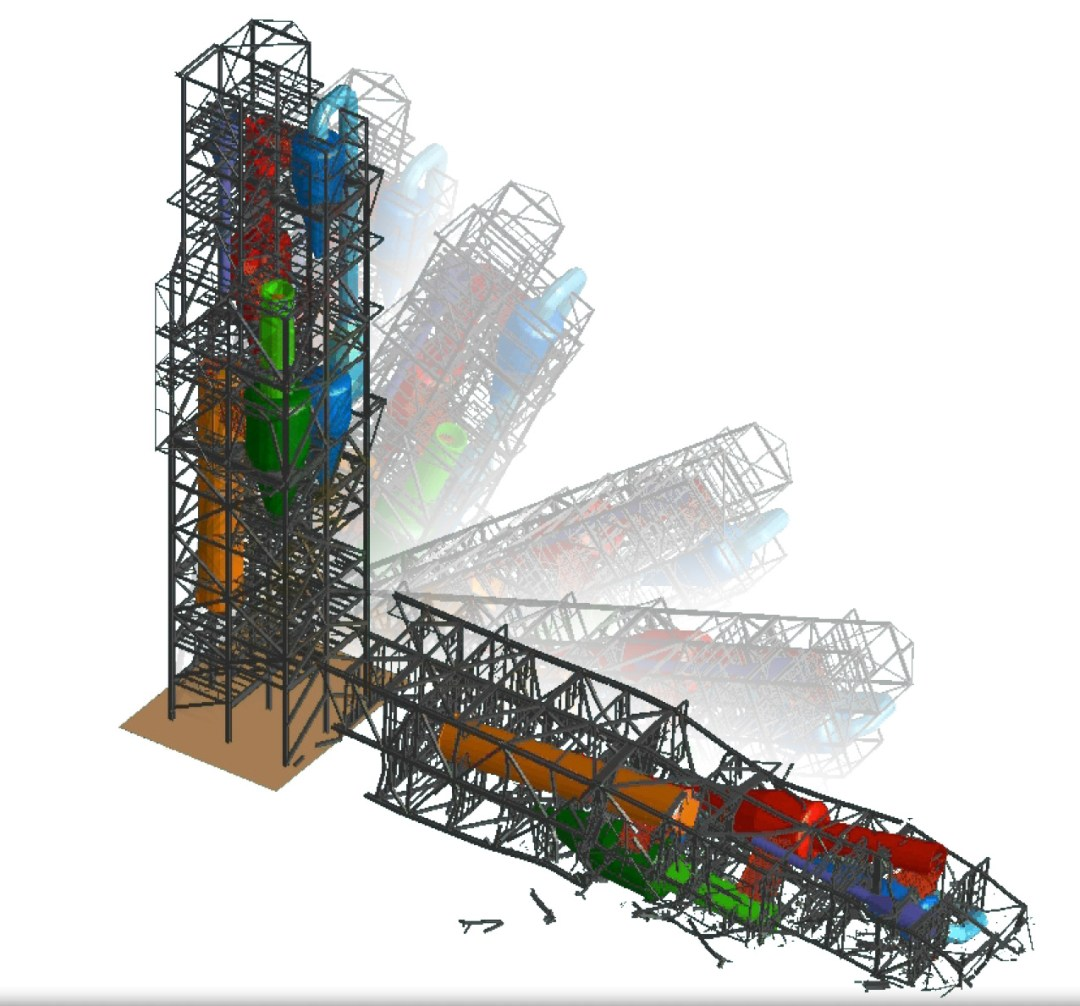 Demolition Engineer - Preheater analysis viewed in Extreme Loading for Structures - Applied Science Internatonal