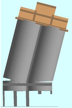 Demolition Analysis - Ambev Large Silo Demolition: T = 4 sec. - Applied Science International