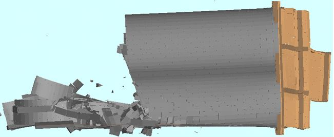 Demolition Analysis - Ambev Large Silo Demolition: T = 7 sec. - Applied Science International