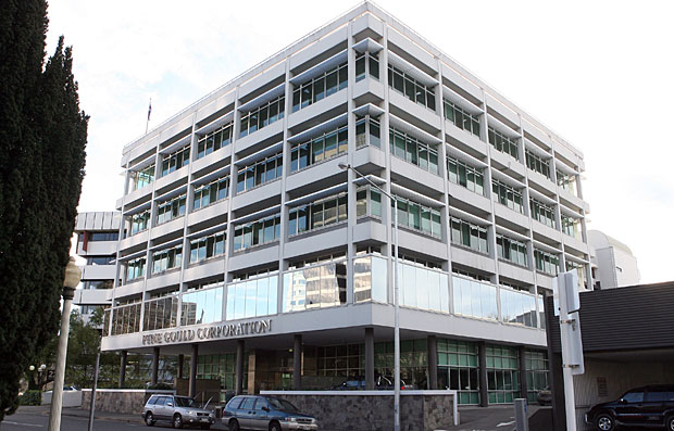 Pyne Gould Building photographed from the South-East elevation after the 4 September 2011 earthquake