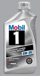 Mobil 1 5W-30 synthetic motor oil