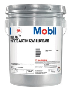 Mobil AGL Synthetic Aviation Gear Lubricant pail