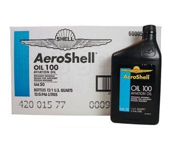 Aeroshell aviation oil 100-1qt