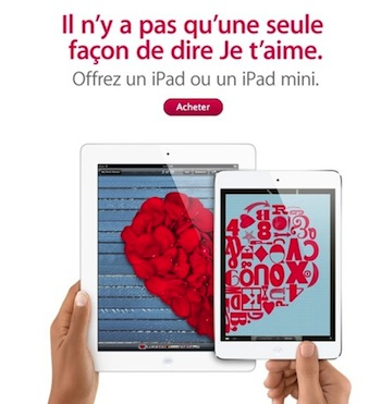 Apple Saint Valentin