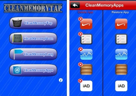 CleanMemoryTap Cydia 2