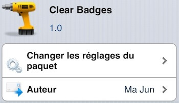 Clear Badges Cydia