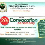 See FUTO 29th Convocation Ceremony Full Details 2016