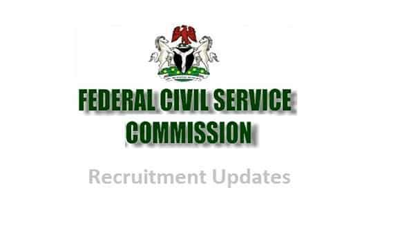 Job Vacancies in Nigeria at the Federal Civil Service Commission | Federal Civil Service Recruitment Form