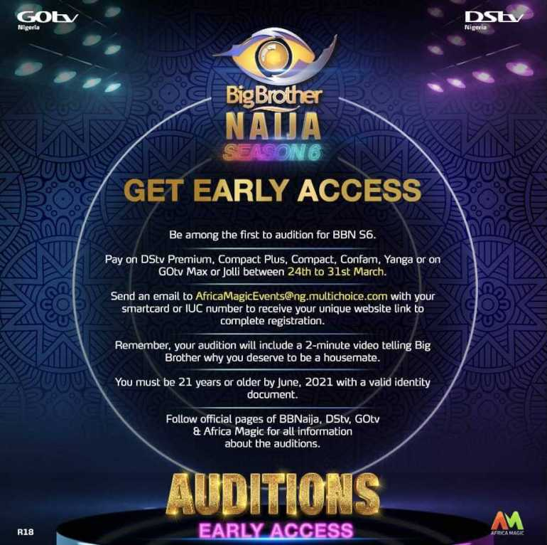 How to Apply for Big Brother Naija 2021 (Early Access)
