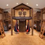Basement Bunk Bed Ideas Masters House Of Bedrooms Kids Bedroom Fixer Upper Person Beds Murphy Room Rooms Top Only Built In Beach Apppie Org