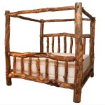 Log Beds King Size Aspen Creek Canopy Bedblack Forest Decor Bedroom Furniture Ideas Rustic Bed Frame Post Qween Plans Cabins Apppie Org