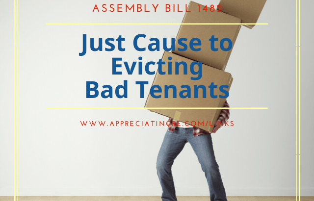 Landlords can evict at-fault tenants with just cause