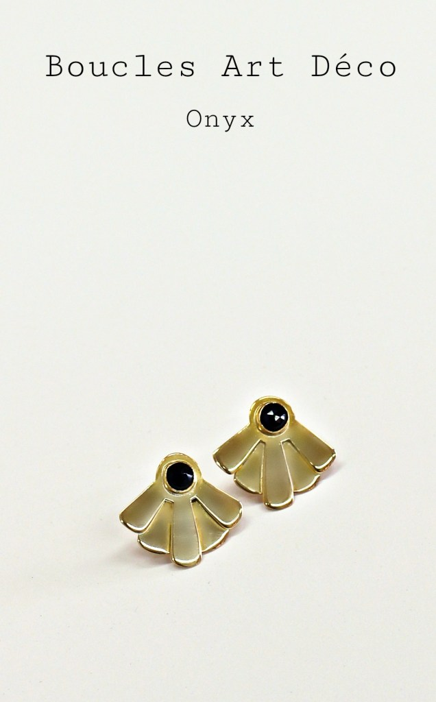 Boucles Art Déco avec serti Onyx - www.apprendre-la-bijouterie.com