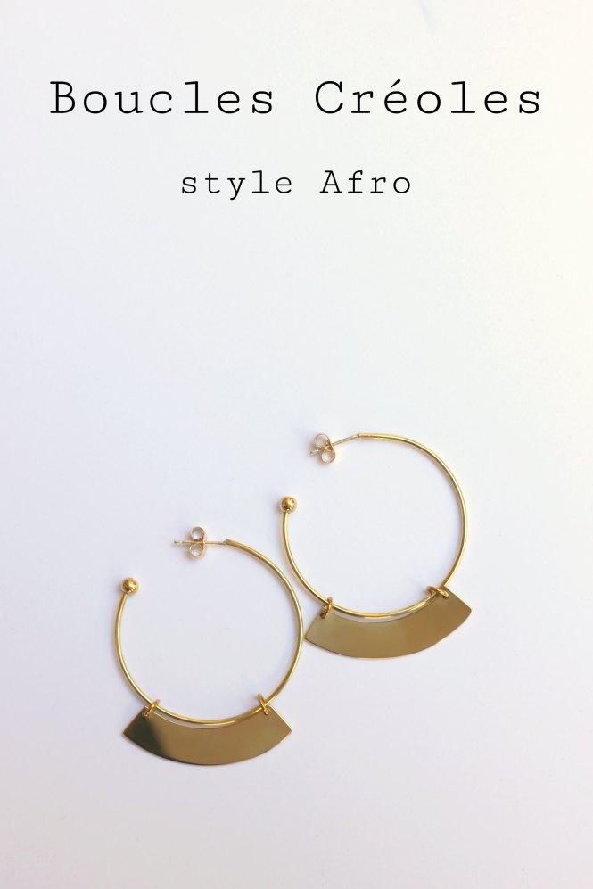 Créoles Style Afro - www.apprendre-la-bijouterie.com