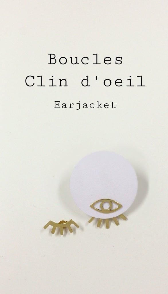 Boucles Earjacket Clin d'Oeil - Ces boucles originales sont à retrouver sur www.apprendre-la-bijouterie.com