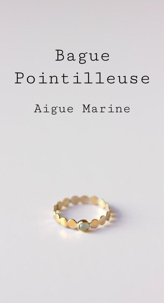 Bague Pointilleuse serti Aigue Marine - Découvrez les étapes de sa fabrication sur www.apprendre-la-bijouterie.com