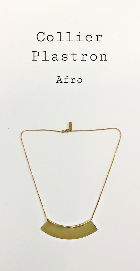 Collier Plastron Afro - Découvrez les étapes de sa réalisation sur www.apprendre-la-bijouterie.com