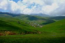 Village perdu dans la plaine