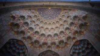 Sous le porche, Madrasa d'Ulugh Beg, Boukhara