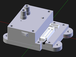 Image of the 3D model of the enclosure for the AVR microprocessor-programming device
