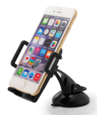 Image of the Taotronics car phone holder holding a smartphone