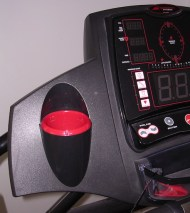 Image of the bottle holder on the Smooth Fitness Evo 3I treadmill