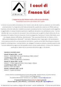 Corso Francesca Lisi - agosto 2016