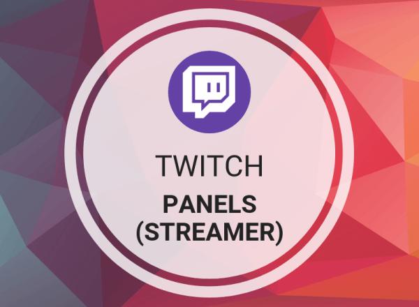 Buy Twitch Panels (Streamer)