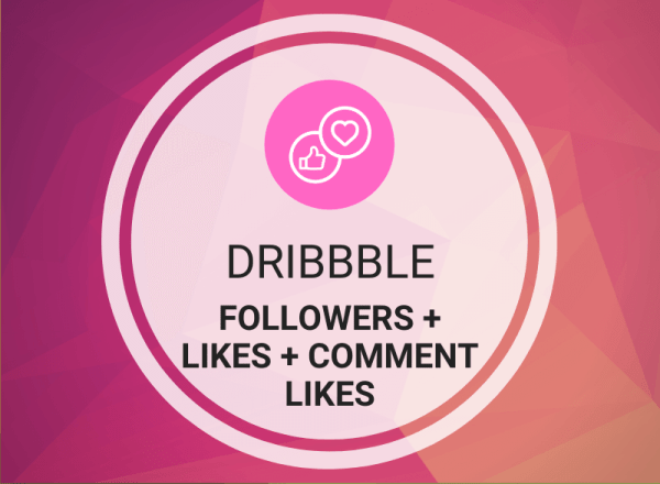 Buy Dribbble Followers + Likes + Comment Likes