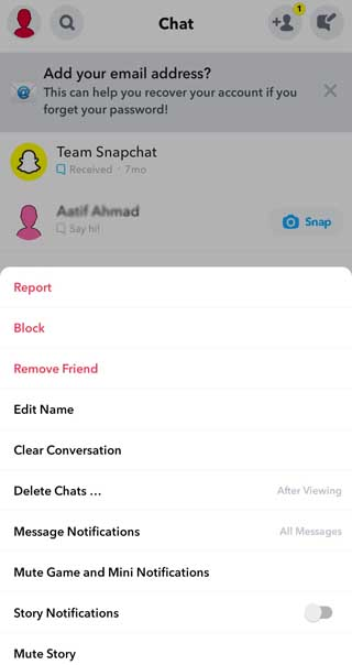 how to unblock on snapchat