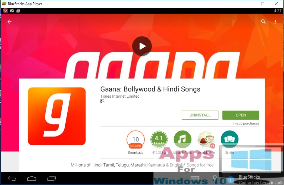 gaana app free  for pc windows 7