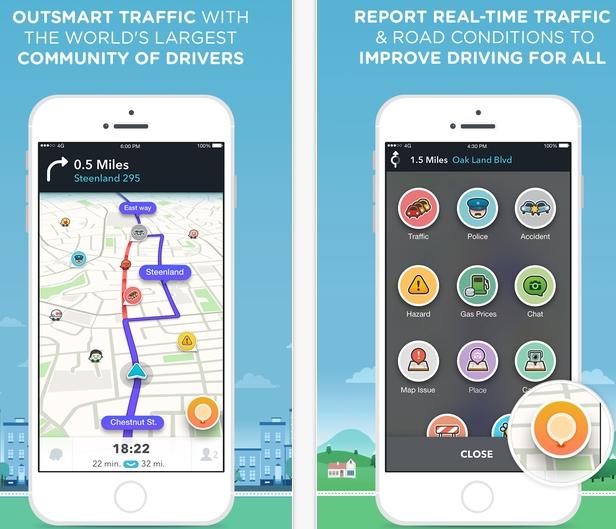 Waze - GPS Navigation, Maps & Social Traffic for PC Windows